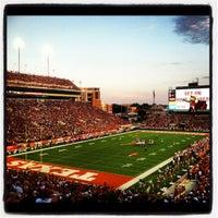 Photo taken at Darrell K. Royal-Texas Memorial Stadium by Pauly M. on 9/9/2012