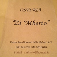 Photo taken at Osteria Zì 'Mberto by Daniele M. on 3/14/2012