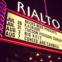 Photo taken at The Rialto Theatre by Wyatt T. on 7/27/2012