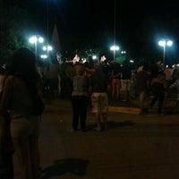 Photo taken at Plaza 25 de mayo by Marina T. on 3/4/2012