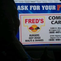 Photo taken at Fred's Old Fashioned Burgers by Winona S. on 3/16/2012