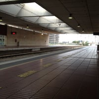 Photo taken at RENFE Aeroport by Stefano M. on 9/10/2012
