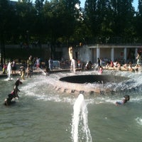 Photo taken at Paris Plages -  Bassin de la Villette by Gabriel L. on 7/26/2012