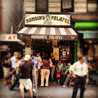 Photo taken at Mamoun's Falafel by Moe on 6/24/2012