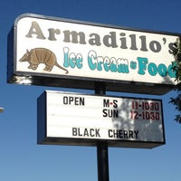Photo taken at Armadillos Ice Cream Shoppe by sp u. on 6/3/2012