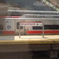 Photo taken at Stamford Transportation Center Bus/Train (STM) Metro North & Amtrak by Joshua B. on 7/23/2012