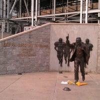 Photo taken at Joe Paterno Statue by Chris K. on 7/13/2012