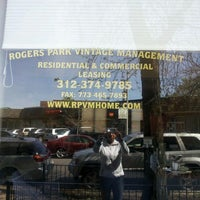Photo taken at Rogers Park Vintage Management by Elicia M. on 4/4/2012