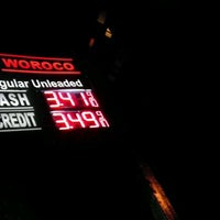 Photo taken at Woroco Gas Station by Victoria on 2/22/2012