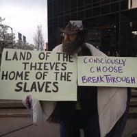 Photo taken at Bank of America Plaza by Jeffrey H. on 3/15/2012
