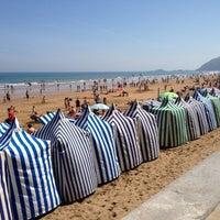 Photo taken at Playa de Zarautz by Javi R. on 6/24/2012