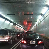 Photo taken at Holland Tunnel Toll Plaza by Abbie H. on 7/25/2012