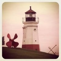 Photo taken at Vermilion Lighthouse by Jessica W. on 4/15/2012