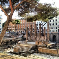 Photo taken at Largo di Torre Argentina by Bryan H. on 8/5/2012