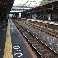 Photo taken at JR 三国ヶ丘駅 (Mikunigaoka Sta.) by まっきぃ ★. on 4/30/2012