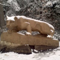 Photo taken at Nittany Lion Shrine by Danielle D. on 2/8/2012
