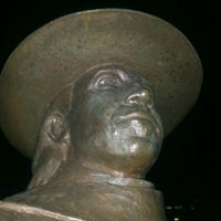 Photo taken at Stevie Ray Vaughan Statue by juan p. on 3/12/2012