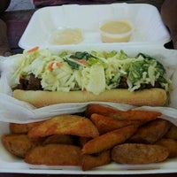 Photo taken at Delia's Chicken Sausage Stand by Stylenu B. on 6/17/2012