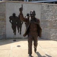 Photo taken at Joe Paterno Statue by John Z. on 7/4/2012