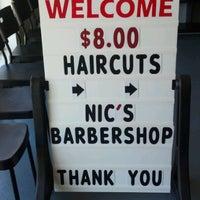 Photo taken at Nic's Barbershop by Cheri N. on 9/11/2012