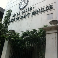 Photo taken at De La Salle - College of Saint Benilde by Tracy M. on 8/30/2012