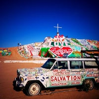 Photo taken at Salvation Mountain by Blanton R. on 2/25/2012