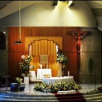 Photo taken at Gereja Katolik Santo Andreas by Nadia Felita S. on 4/7/2012