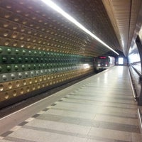 Photo taken at Metro =A= Malostranská by Kirill L. on 9/8/2012