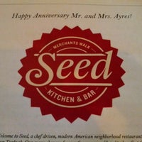 Photo taken at Seed Kitchen & Bar by Nick A. on 6/11/2012