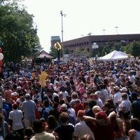 Photo taken at Kathleen Bryant Festival Park by Drew M. on 7/4/2012