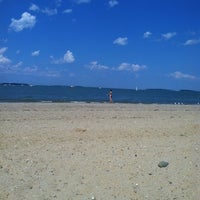 Photo taken at Wollaston Beach by Stephanie C. on 7/8/2012