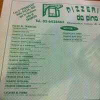 Photo taken at Pizzeria da Pino by Roberta M. on 2/15/2012