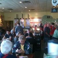 Photo taken at Einstein Bros Bagels by Chris B. on 2/11/2012