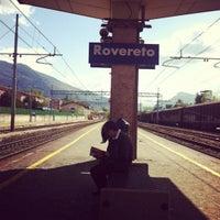 Photo taken at Stazione di Rovereto by Francesca F. on 4/17/2012