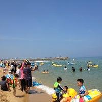 Photo taken at Sokcho Beach by KJ on 7/27/2012