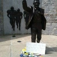 Photo taken at Joe Paterno Statue by Kurt S. on 7/15/2012
