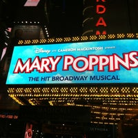 Photo taken at Disney's MARY POPPINS at the New Amsterdam Theatre by Maru P. on 4/12/2012