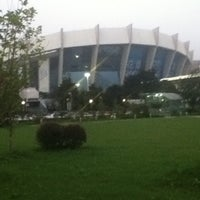 Photo taken at Shanghai Indoor Stadium Metro Stn. by Kevin C. on 7/18/2012