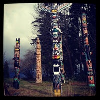 Photo taken at Totem Poles in Stanley Park by Sarah Y. on 2/26/2012