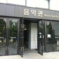 Photo taken at Ewha Womans University Music Building by Jaho L. on 7/2/2012