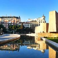 Photo taken at Plaza de Colón by Jose Manuel R. on 3/13/2012