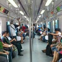 Photo taken at LRT 2 (Araneta Center-Cubao Station) by Guen M. on 9/8/2012