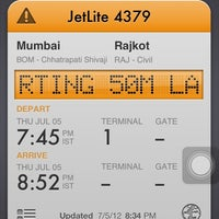 Photo taken at Rajkot Airport (RAJ) by Jaimeen P. on 7/5/2012