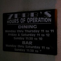 Photo taken at Zebb's Deluxe Grill & Bar by Denise H. on 5/11/2012
