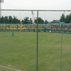 Photo taken at 청주종합운동장 야구장 (Cheongju Baseball Stadium) by 동욱 강. on 4/29/2012