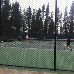 Photo taken at Woodlands Tennis Courts by Sheri V. on 8/18/2012