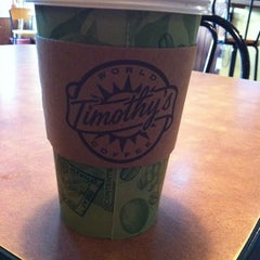 Photo taken at Timothy's World Coffee by Hannah on 9/7/2012
