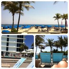 Photo taken at Pool @ Sheraton Ft. Lauderdale by Alicia K. on 4/3/2012