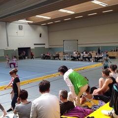 Photo taken at Sporthalle Hegelsberg by Alex on 3/24/2012