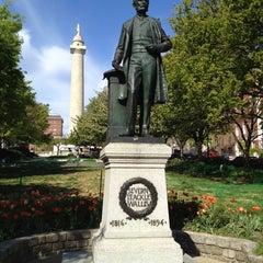 Photo taken at Severn Teackle Wallis Statue by Derek B. on 4/8/2012